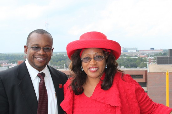 U.S. Rep. Corrine Brown and Dr. Tyndall