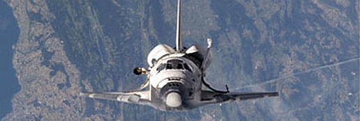 Shuttle Flying